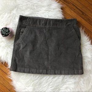 Banana Republic Corduroy Mini Skirt Gray SZ 6